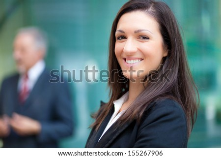 Young businesswoman portrait in an urban setting