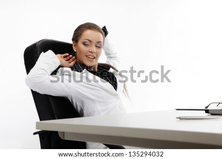Young businesswoman  relaxing