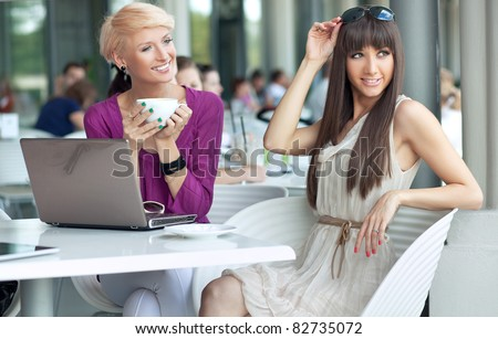 Young bussiensswomen - stock photo