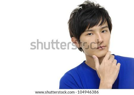 young casual asian man - stock photo