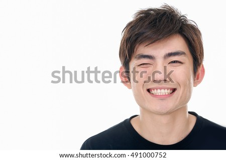 young casual man portrait isolated