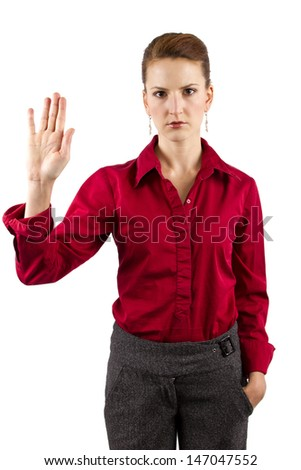 young caucasian businesswoman - stock photo
