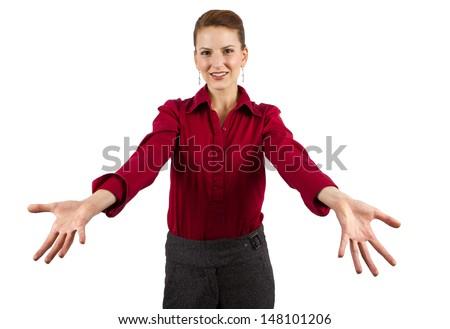 young caucasian businesswoman - stock photo