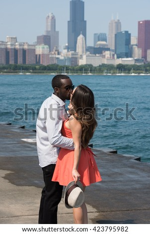 Young charming pair - stock photo