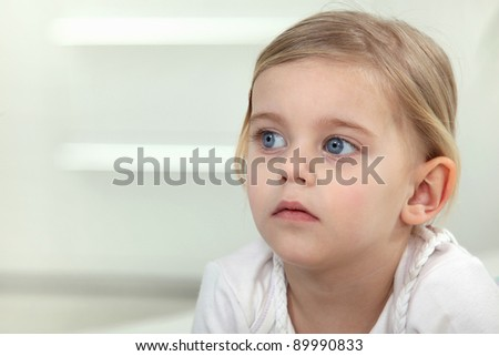 Young child just before bedtime - stock photo