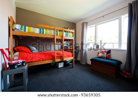 Young child's bedroom - stock photo