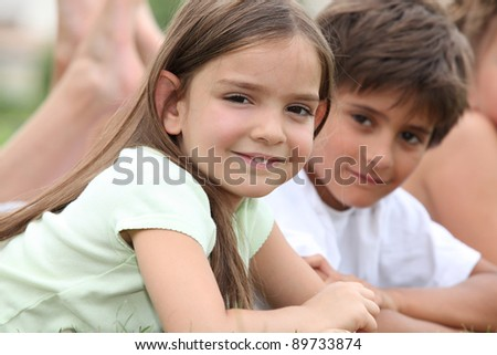 Young children together in a park