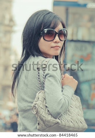 young Chinese Female tourist