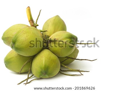 young coconut - stock photo