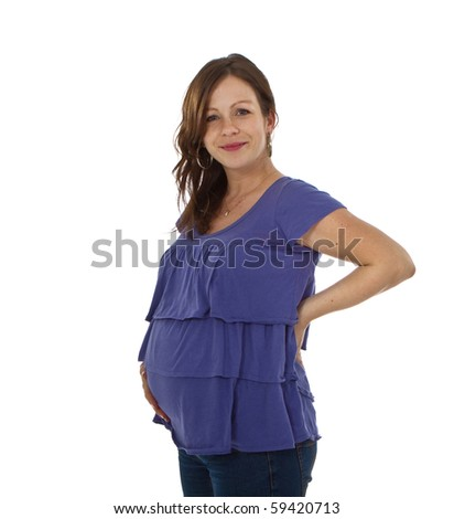 Young confident pregnant woman - stock photo