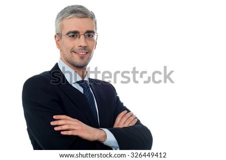 Young confident smiling entrepreneur - stock photo