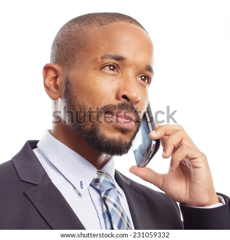 young cool black man speaking on phone