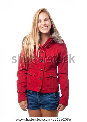young cool woman laughing