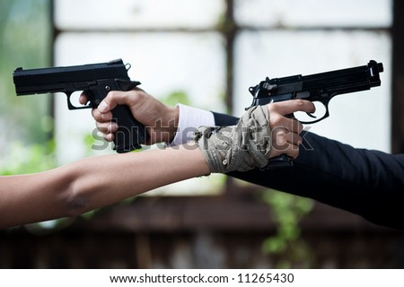 young couple conflict - stock photo