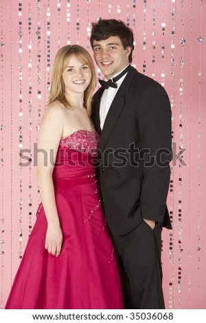 Young Couple Dressed For Party - stock photo