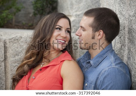 Young Couple Enjoying Each Other - stock photo