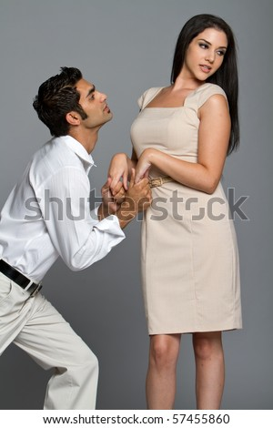 Young couple having problems  between each other - stock photo