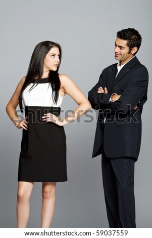Young couple having problems between each other