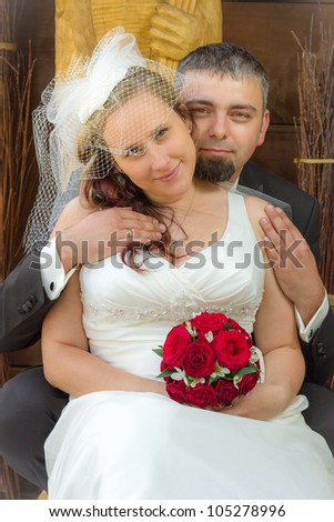 Young couple Just married - stock photo
