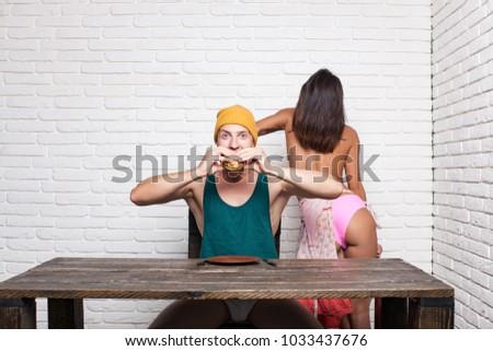Naked slut in catfight