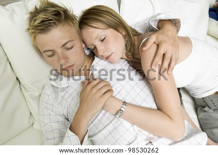 Young Couple Resting Together