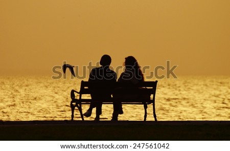 Love Couple On Bench Stock Photo 121902520 Shutterstock