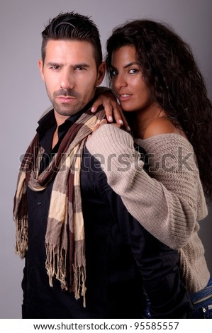 young couple together in love - stock photo