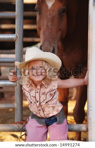 Young cowgirl. - stock photo