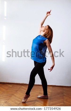 Young dancer making her moves perfect
