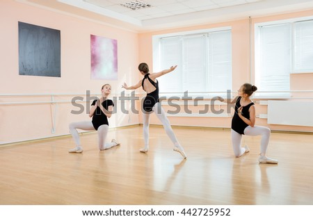 Young dancers at ballet class