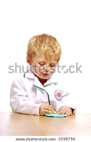 Young doctor, Toddler - stock photo