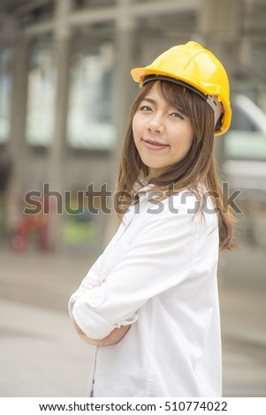 Young engineer asian women