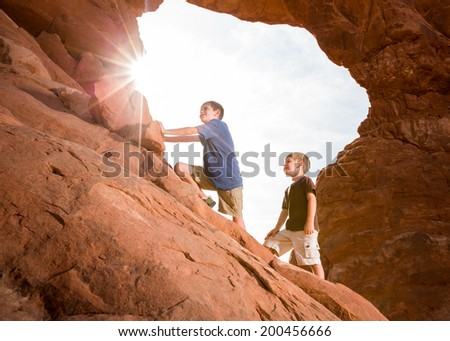 Young Explorers (Horizontal) - stock photo