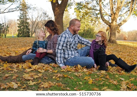 young family in a special moment