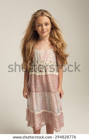 Young fashion girl posing  - stock photo