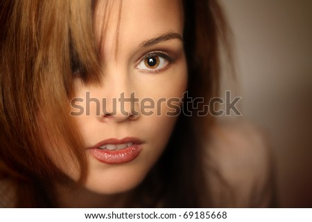 young fashion model - stock photo