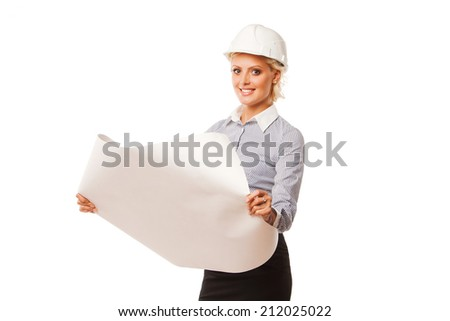 Young female construction specialist  - stock photo