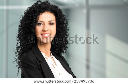 Young female manager portrait - stock photo