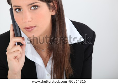 Young female office worker - stock photo