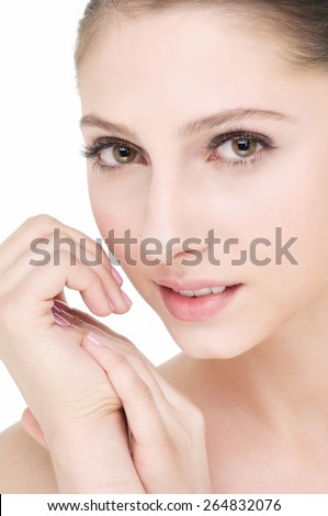 Young female with fresh clear skin,