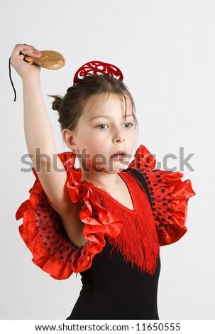 Young Flamenco Girl - stock photo