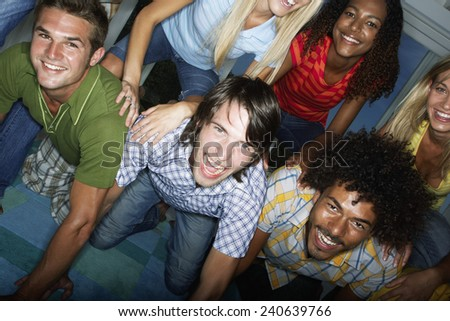 Young Friends at Party - stock photo