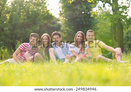 Young friends having fun outdoor