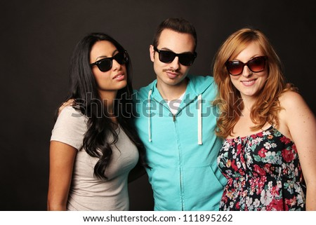 Young Friends with Sunglasses