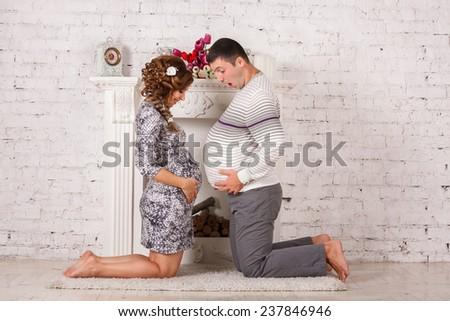 Young future parent enjoying together - stock photo