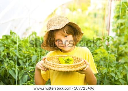 Young gardener - stock photo