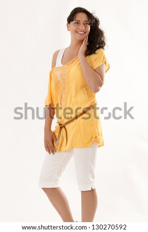Young girl in an elegant holiday fashion / Young and Elegant - stock photo