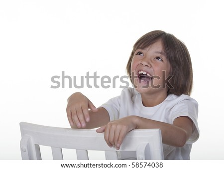 Young girl laughing. - stock photo