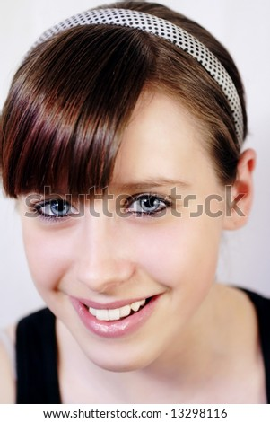 Young girl portrait with beautiful smile