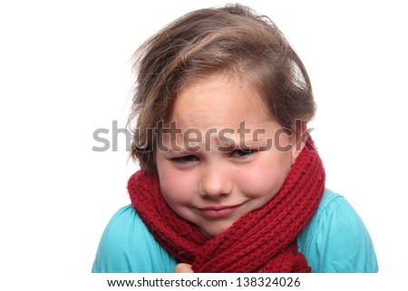 Young girl posing with scarf